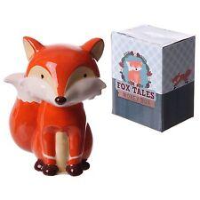 Cute ceramic sitting Fox Money box cute christmas gift piggy bank decoration