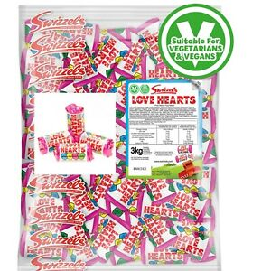Swizzels Mini Love Heart Sweets Wedding Favours Retro Party Bag Valentines Candy