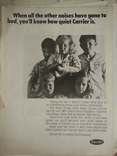 1968 Carrier Air Conditioning Conditioners Girls Boys in Pajamas  Ad