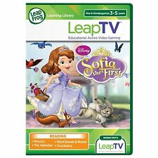 NEW! LeapFrog LeapTV Sofia the First Pre-K/K Game Ages 3-5; Reading