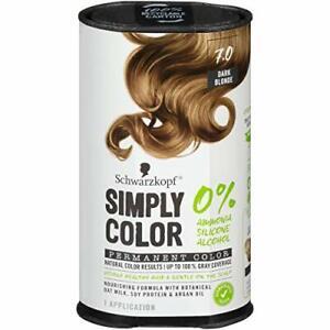 Schwarzkopf Simply Color, Permanent Color, 7.0, Dark Blonde, 1 Application