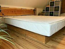 Wasserbett Platin Beruhigt 200 x 220 cm Eiche natur geölt Schubläden Bett komple