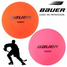 Bauer Street Ice Hockey 'No Bounce' Balls Warm & Cool Weather Practice Ball Puck