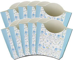 Baby Boy Gift Boxes - Blue White Baby Shower Hampers Christening Gift Boxes x10