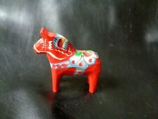 Little RED Hand Painted DALA HORSE Wooden Folk Art Figure SWEDEN