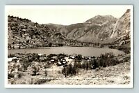 Silver Lake Resort Mono County CA Old Real Photo RPPC Sierra Nevada Mts Postcard