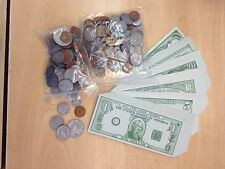 Play money- coins and bills- 60 % off retail