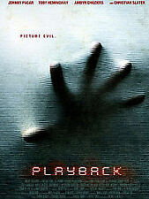 Playback (DVD, 2012) New Sealed region 2 free UK post