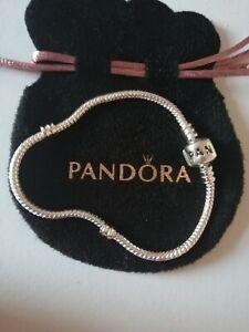 Pandora Moments Snake Chain Sterling Silver Charm Bracelet S925 ALE 20cm