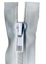 80cm White Open End Chunky Zip