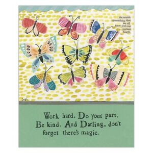 Curly Girl Greetings card WORK HARD. DO YOUR PART. BE KIND New
