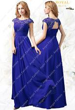 Chiffon M03 Long Maxi Evening Wedding Bridesmaid Formal Party Prom DressUK 8-24 Royal Blue 22