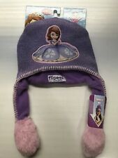 New Disney Sofia The First Flipeez Hat By Abg Ages 4+ One Size