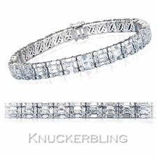 "White Gold Fine Diamond Bracelets 7.5 - 7.99"" Length"