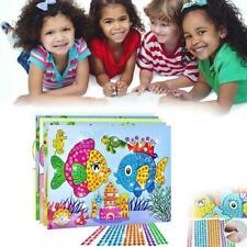 Art Sticker Mosaic Craft Kids Educational Puzzle Diamond Toys Kit Toy Gem S R1V7