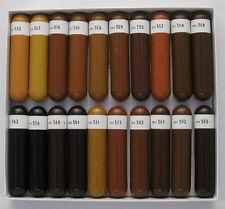 Baoschellack Serie B (Polstermöbeltöne) - 1 Kasten 20 Stangen, shellac sticks