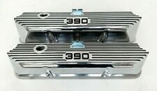 Ford FE 390 Tall Valve Covers Polished - Die-Cast Aluminum - Ansen USA (BLEM)