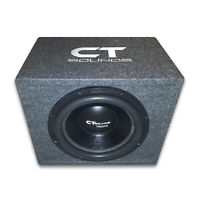 """CT Sounds Single Tropo 12"""" inch 600W RMS Subwoofer Bass Package with Ported Box"""