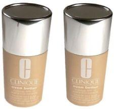 2pc LOT CLINIQUE Foundation 27 Butterscotch Even Better Evens & Correct Makeup