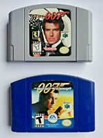 GoldenEye & James Bond World Is Not Enough Nintendo 64 Blue & Gray Cartridges