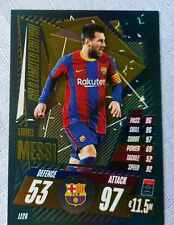 Match Attax 2020/21 Lionel Messi Gold Limited Edition card