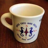 United States Naval Facility Mug Homer Laughlin USA Pacific Beach Porcelain Rare