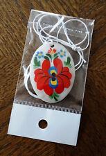 Necklace -tear drop shape- hand painted, MATYO pattern 2479