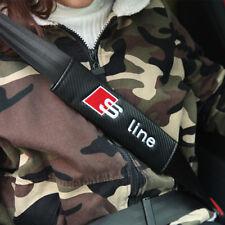 2xCarbon Look Copri Cintura di Sicurezza per Audi A3 A4 A6 Q3 Q5 Q7