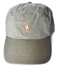 POLO RALPH LAUREN Pony Logo Baseball Hat/Cap Olive Green One Size >NEW>