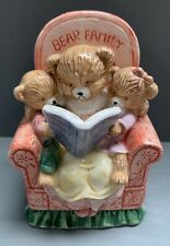 Mother Bear Reading To Baby Cubs Cute Ceramic Figurine Ornament