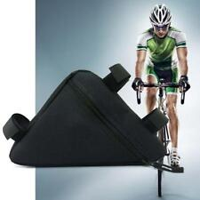 Triangle Cycling Bicycle Front Tube Pouch Bag Holder Saddle Pannier Hot Black UP