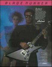 The 1985 Aria Pro II Blade Runner Series Guitar advertisement 8 x 11 ad print