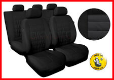 CAR SEAT COVERS full set fits Citroen C3 C4 C5 Universal - black (MG1)