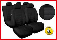 Cubiertas de asiento de coche conjunto completo se ajusta Volswagen VW Polo Universal-negro (MG1)