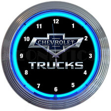 Chevrolet Chevy Trucks neon clock sign 100th Anniversary Ul Garage lamp light