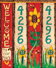 2' Sunflower Custom Address Garden Art Pole painted peace pole FREE SHIPPING