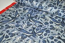 COTTON & STEEL DESIGNERSTOFF USA BLUE SCHWALBEN SCHWALBE DELFTER MARITIM