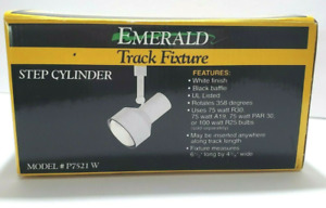 EMERALD | WHITE TRACK FIXTURE LIGHT | M: P7521W STEP CYLINDER | FREE SHIPPING