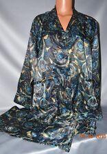 Victorias Secret Afterhours Silky Satin Paisley Pajamas Pajama Set NWT XS