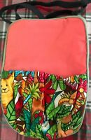 Jungle Print and Peach Carrier For Doll/Bear/Beanie Baby
