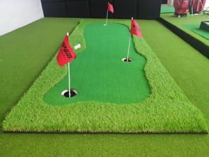 Hilllman PGM Golf Artificial Turf Three Hole 1m x 3m Putting Green