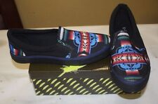 NATIVE SLIP-ON NATIVE AMERICAN THEMED SHOES MENS SIZE 9 BLACK NIB FREE SHIPPING
