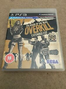 The House of the Dead Overkill Extended Cut PS3 (+ unused 3D Glasses)