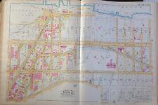 Orig 1891 E. Robinson Harlem Manhattan Map Atlas 125th-142nd Street 22x32