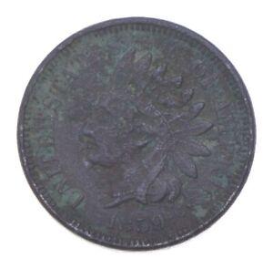 Civil War Era - 1859 Copper Nickel Indian Head Cent - Historic *715
