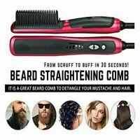 Fast Iron Ceramic Straight Hair Brush Straightener Electric Comb Beauty Styling