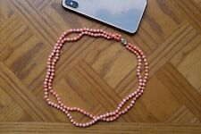 Skin Coral Necklace Double Stand Angle
