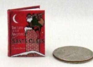Miniature Dolls House Accessories Adventures of Santa Claus Readable Book 1:12th