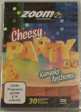 ZOOM KARAOKE DVD    30 CHEESY PARTY ANTHEMS   1 DISC for your DVD PLAYER