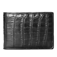 Genuine Crocodile Alligator Belly Skin Leather Men's Credit Card Holder Wallet